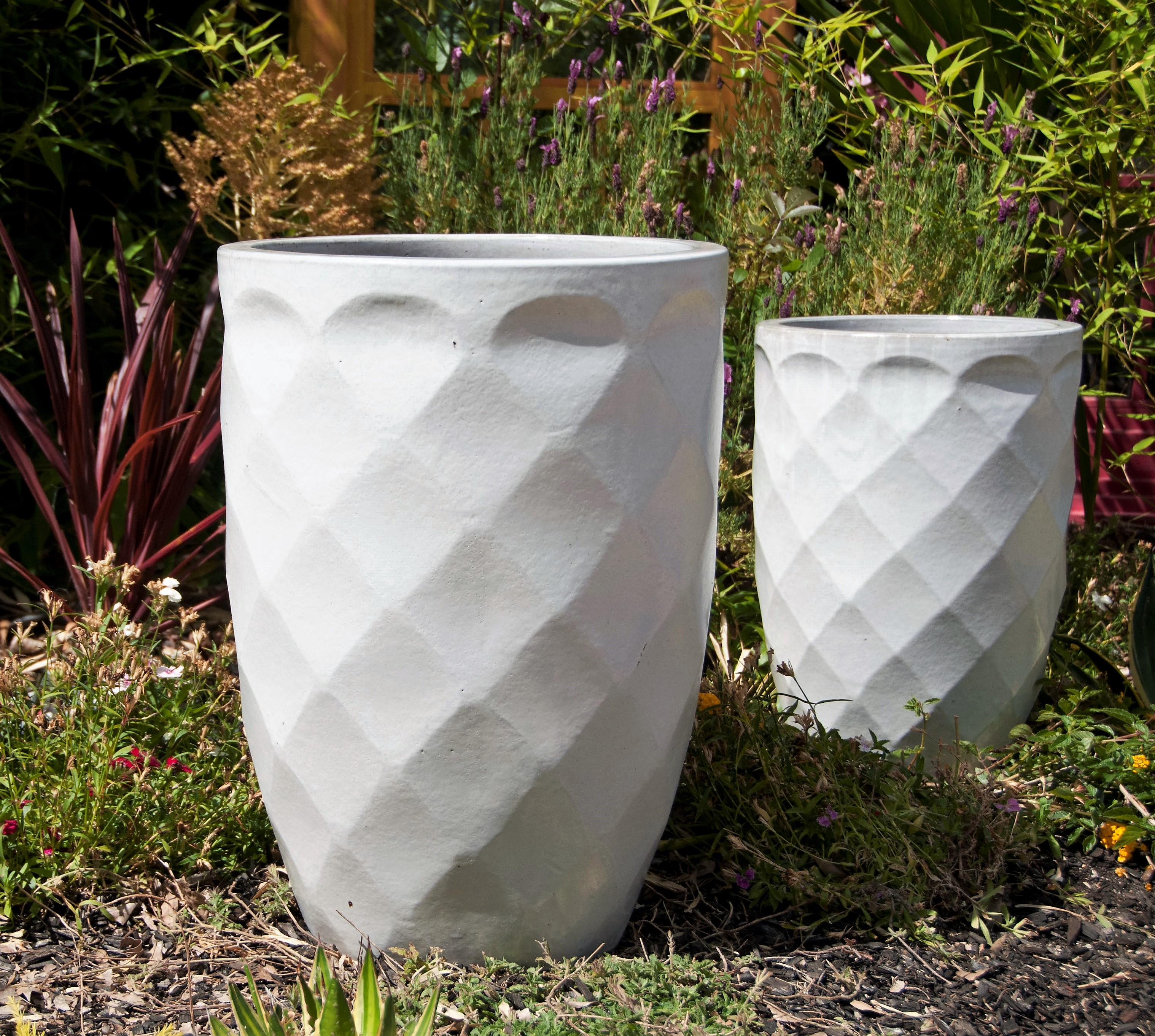 Tall Diamond Planter